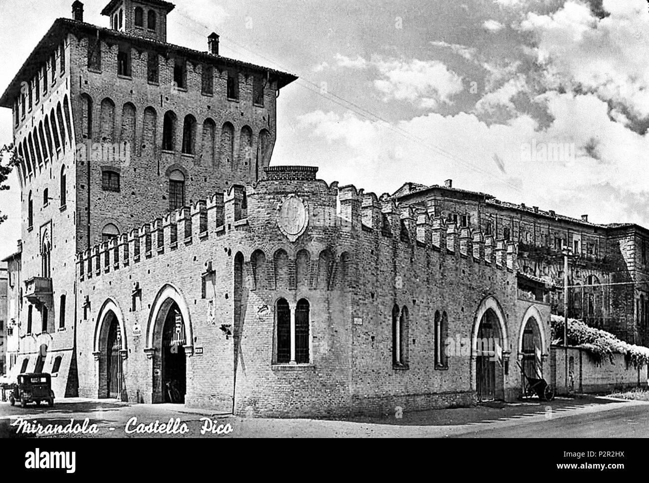 Italiano Castello Pico A Mirandola 1963 G Bellei 17 Castello
