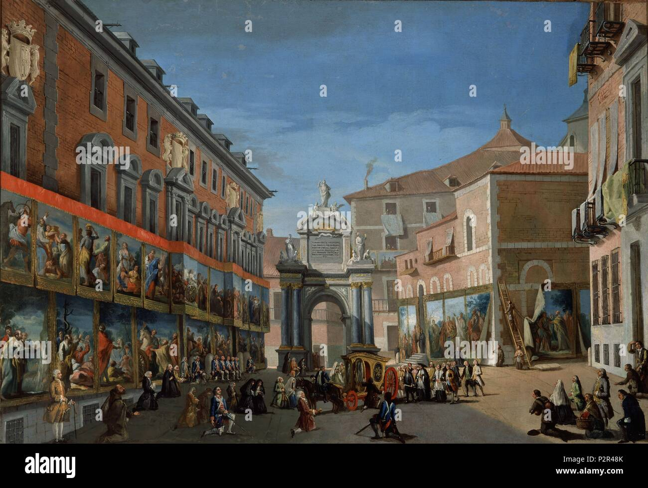 The Arch Of Triumph Of St Mary In The Main Street Of Madrid 18th