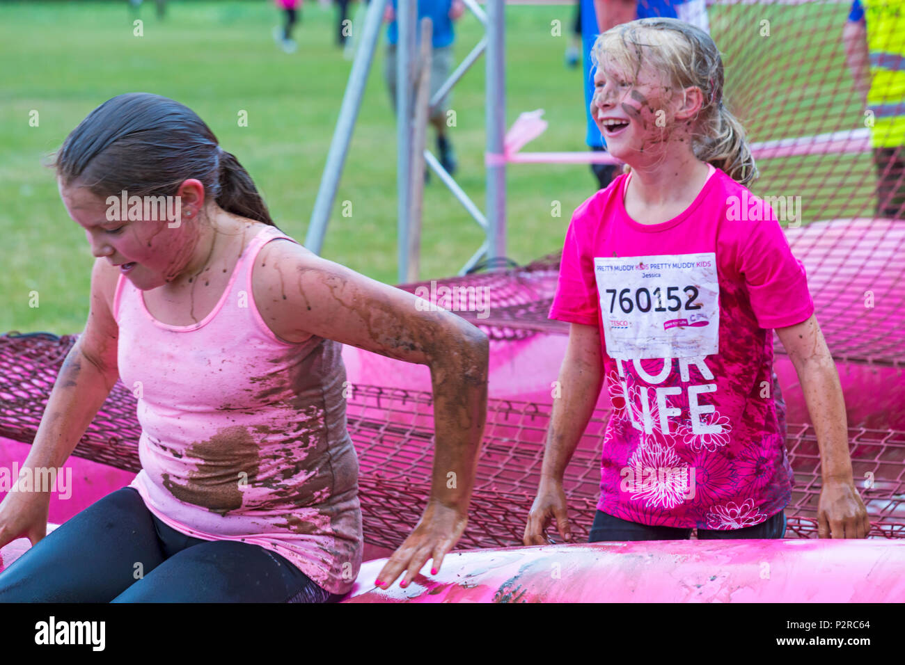Baiter Park, Poole, Dorset, UK  16th June 2018  Race for Life Pretty