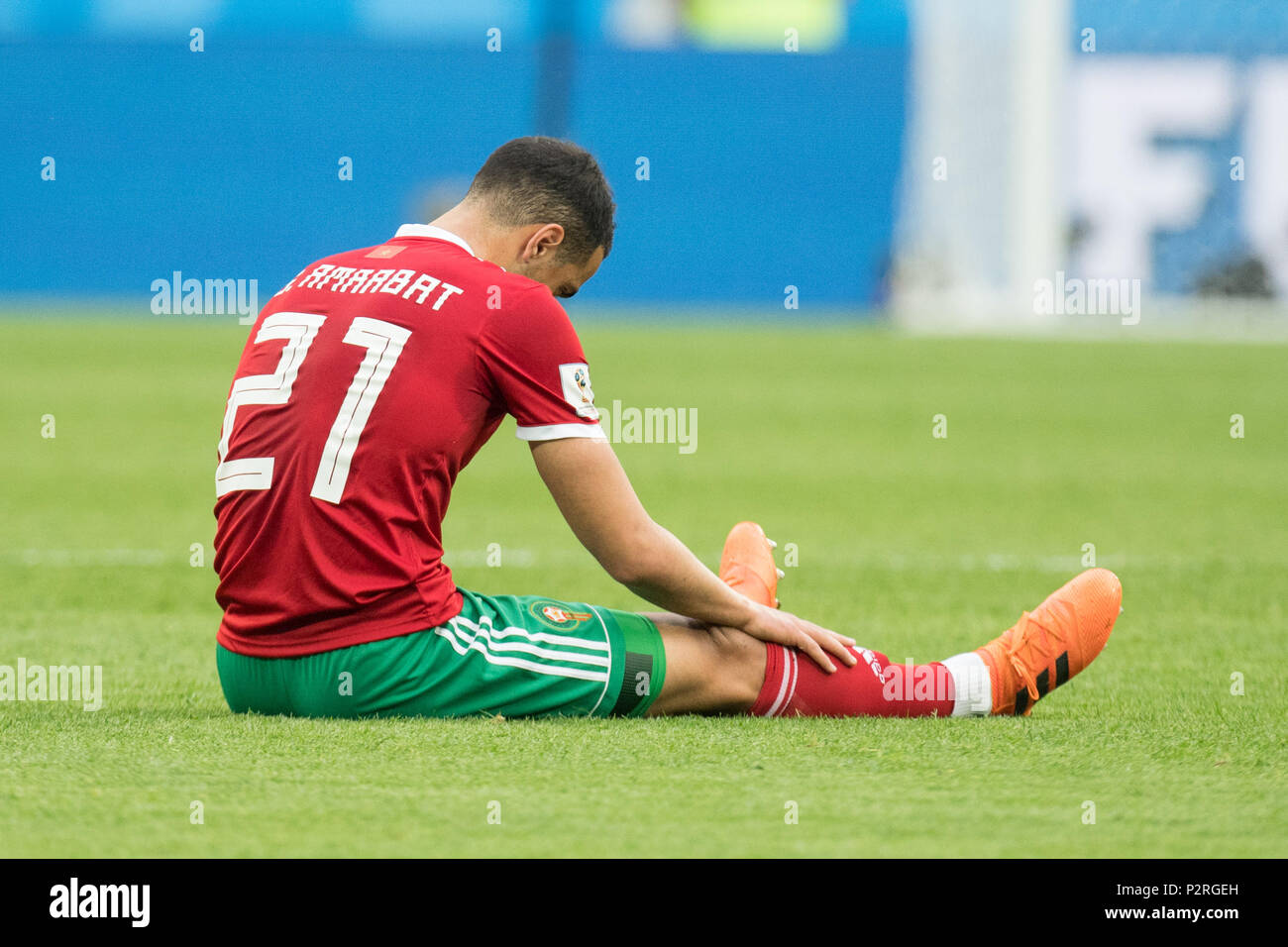 Sofyan Amrabat Mar Sits On The Pitch And Is Disappointed Showered