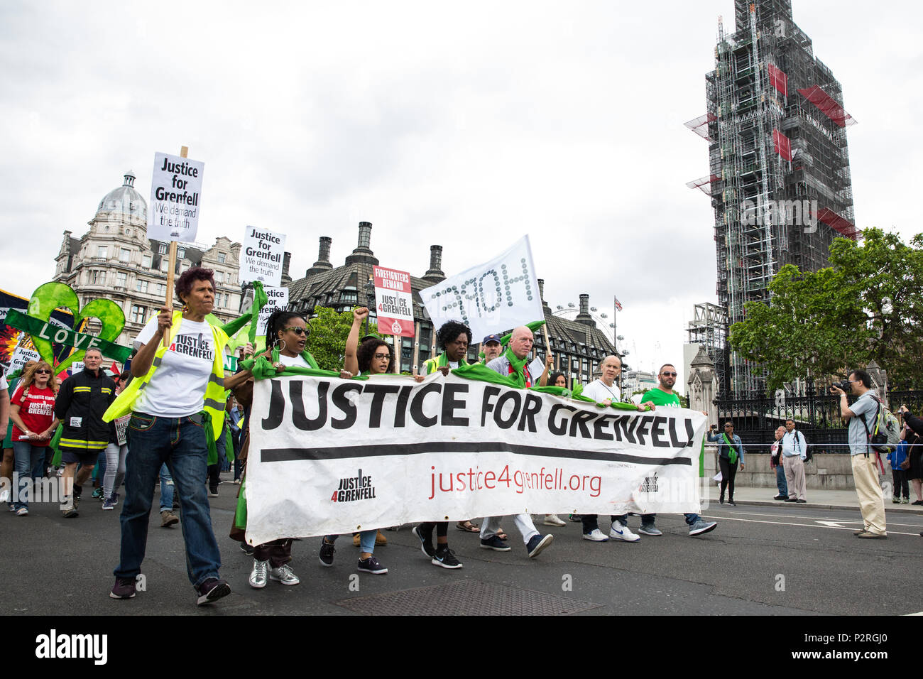 London, UK. 16th June, 2018. Hundreds of people take part in a ...