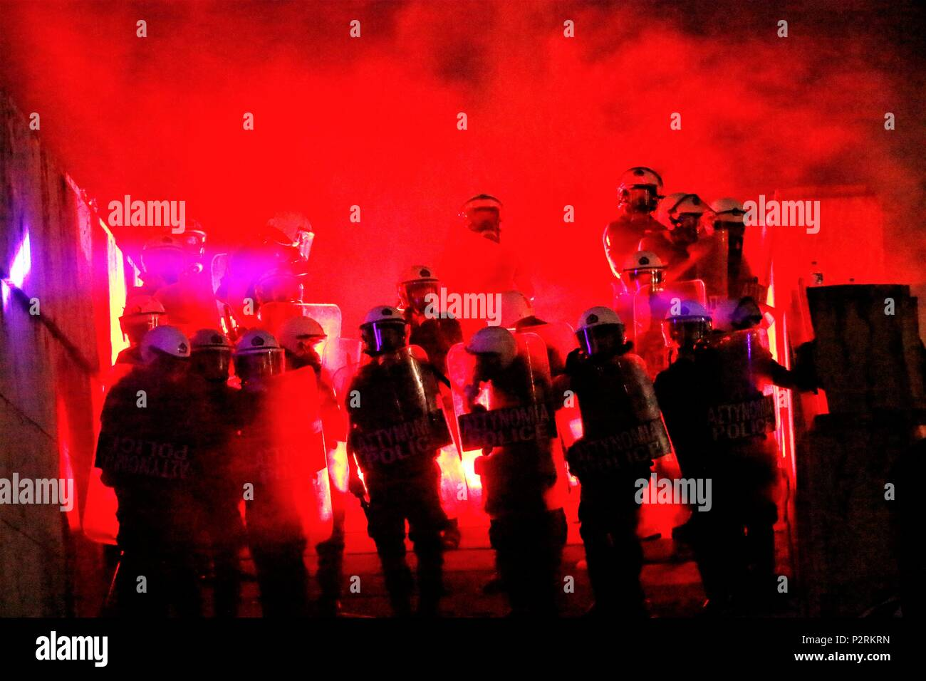 Skirmishes Between Greek Riot Police And Some Of The Demonstrators