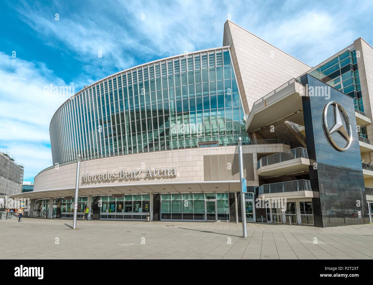Mercedes Benz Arena Stadium, Berlin, Germany | Mercedes Benz Arena Stadion, Berlin, Deutschland - Stock Image