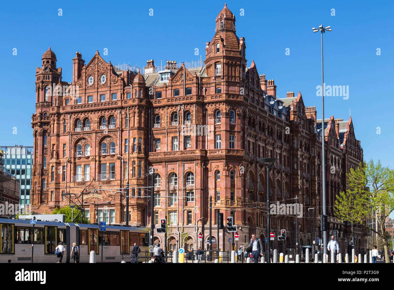 England Manchester England greater Manchester City centre city center midland hotel manchester city centre uk - Stock Image