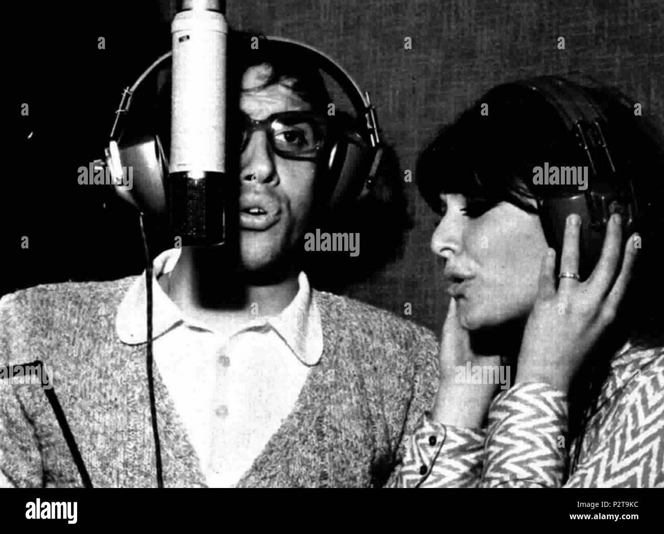 . Italian singers Adriano Celentano and Claudia Mori . 22 February 1970. Unknown 4 Adriano Celentano and Claudia Mori 1970 - Stock Image