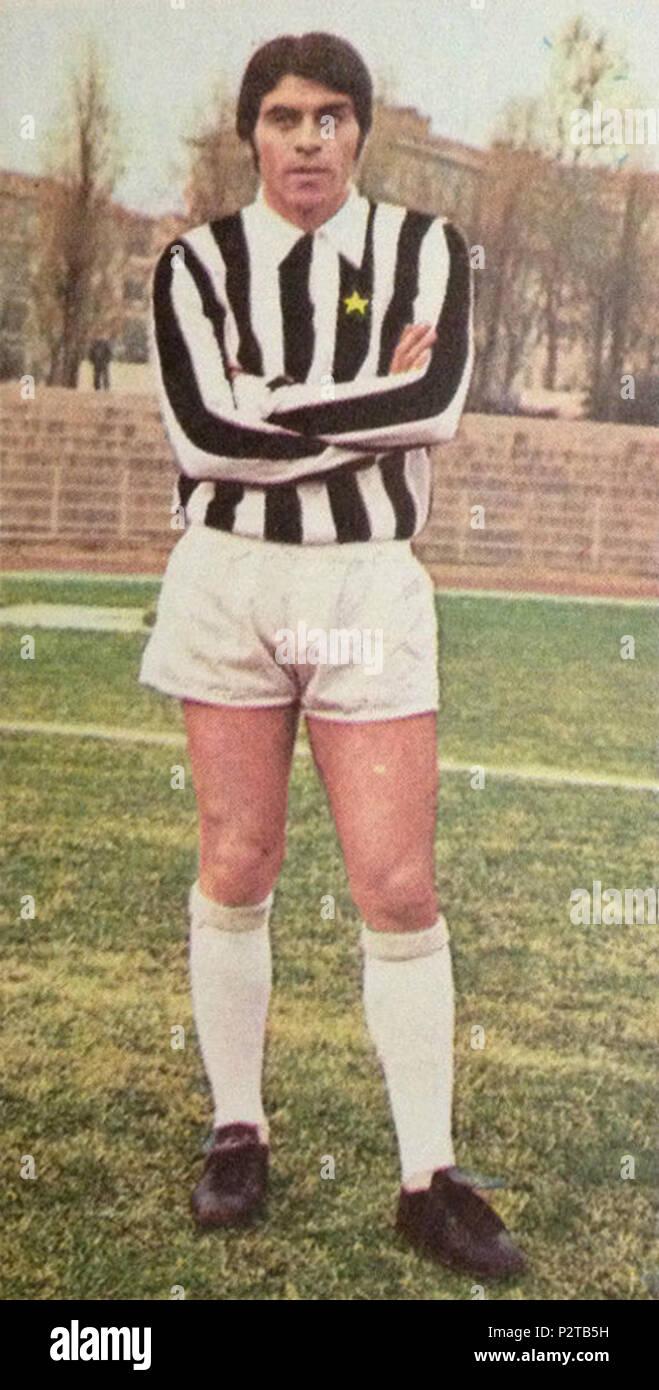 . Italiano: Il calciatore italiano Franco Causio alla Juventus all'inizio della stagione 1970-71. circa 1970. Unknown 31 Franco Causio - Juventus FC 1970-71 Stock Photo