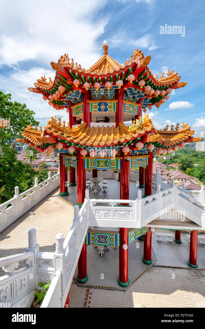The Thean Hou temple on the outskirts of Kuala Lumpur, Malaysia - Stock Image