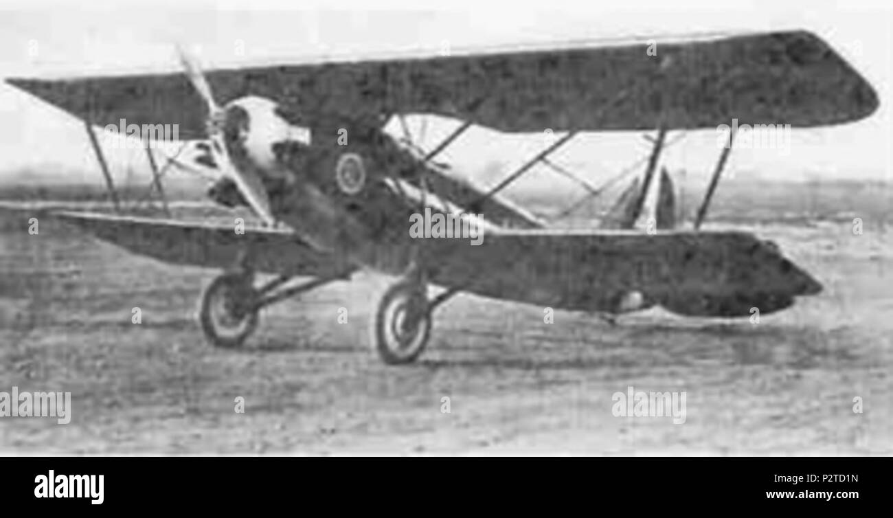 . English: Italian Breda Ba.19 military aerobatic trainer aircraft . 1930s. Uncredited 12 Breda Ba.19 - Stock Image