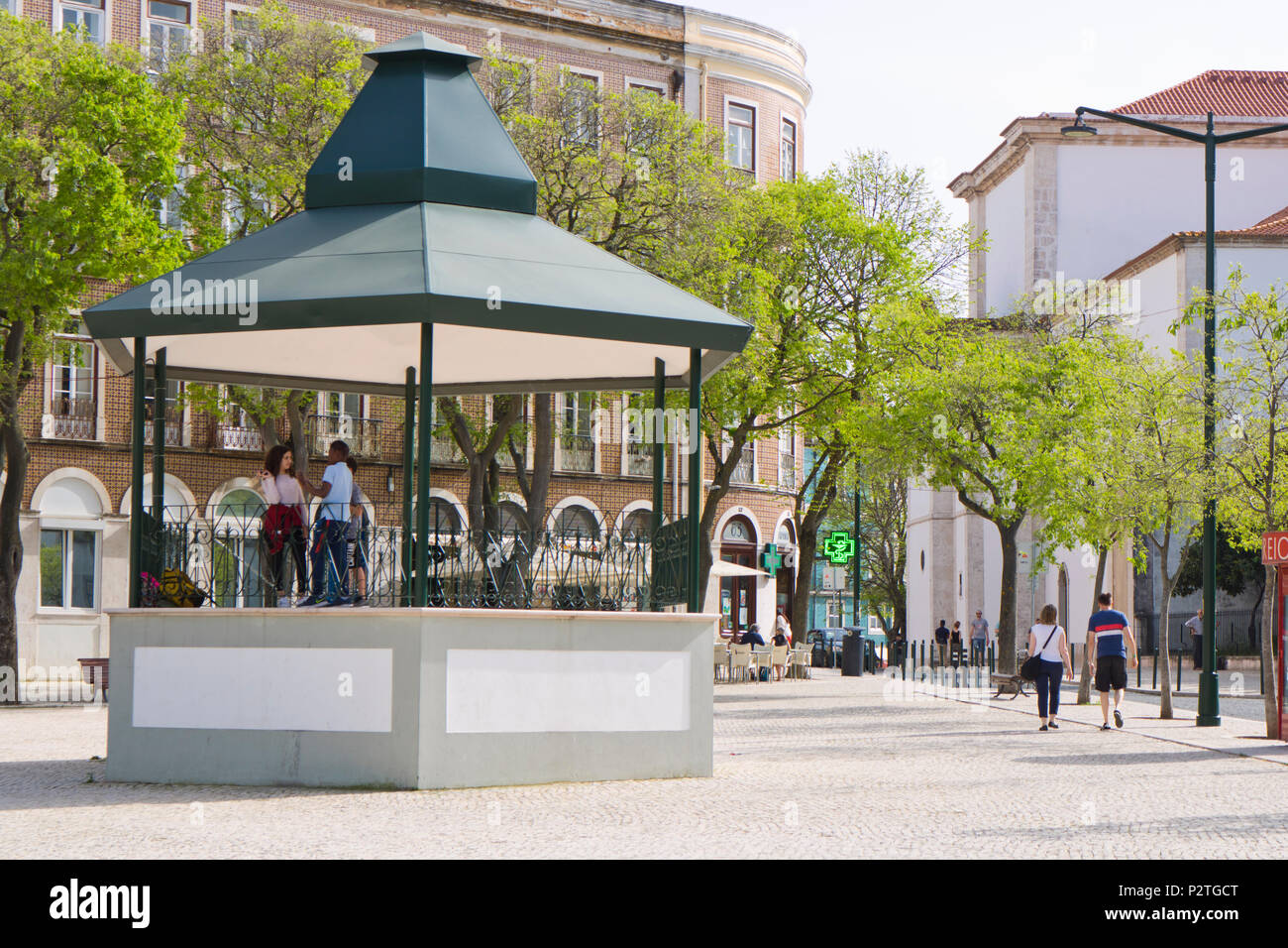 Largo da Graça bandstand, Lisbon, Portugal - Stock Image