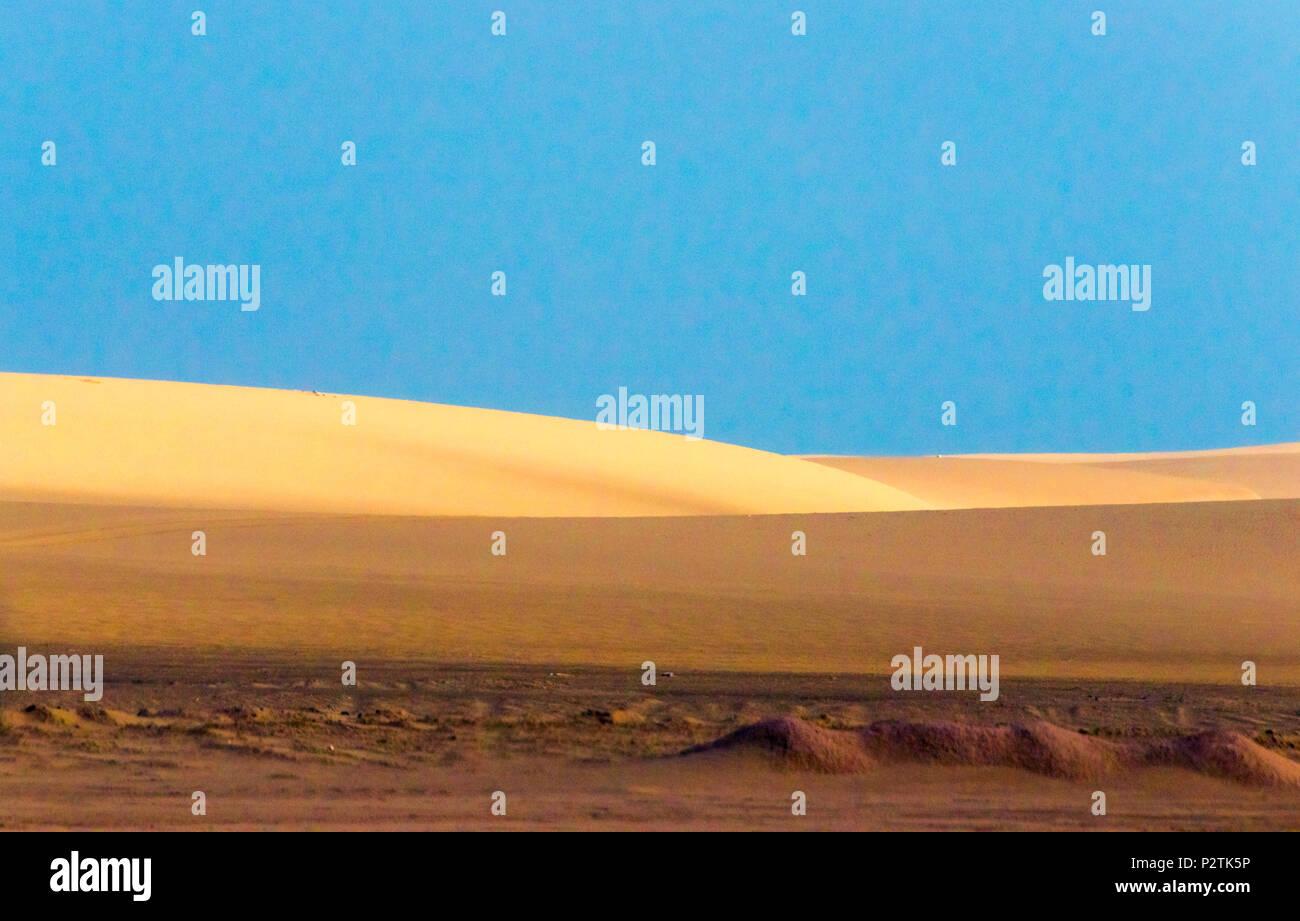 Sand dune, Walvis Bay, Erongo Region, Namibia - Stock Image