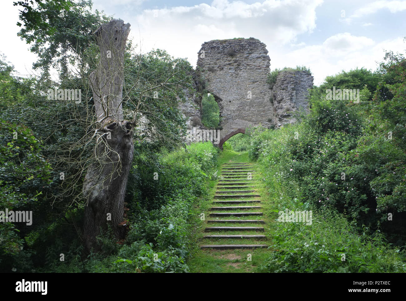 Wigmore Castle, Herefordshire, England - Stock Image