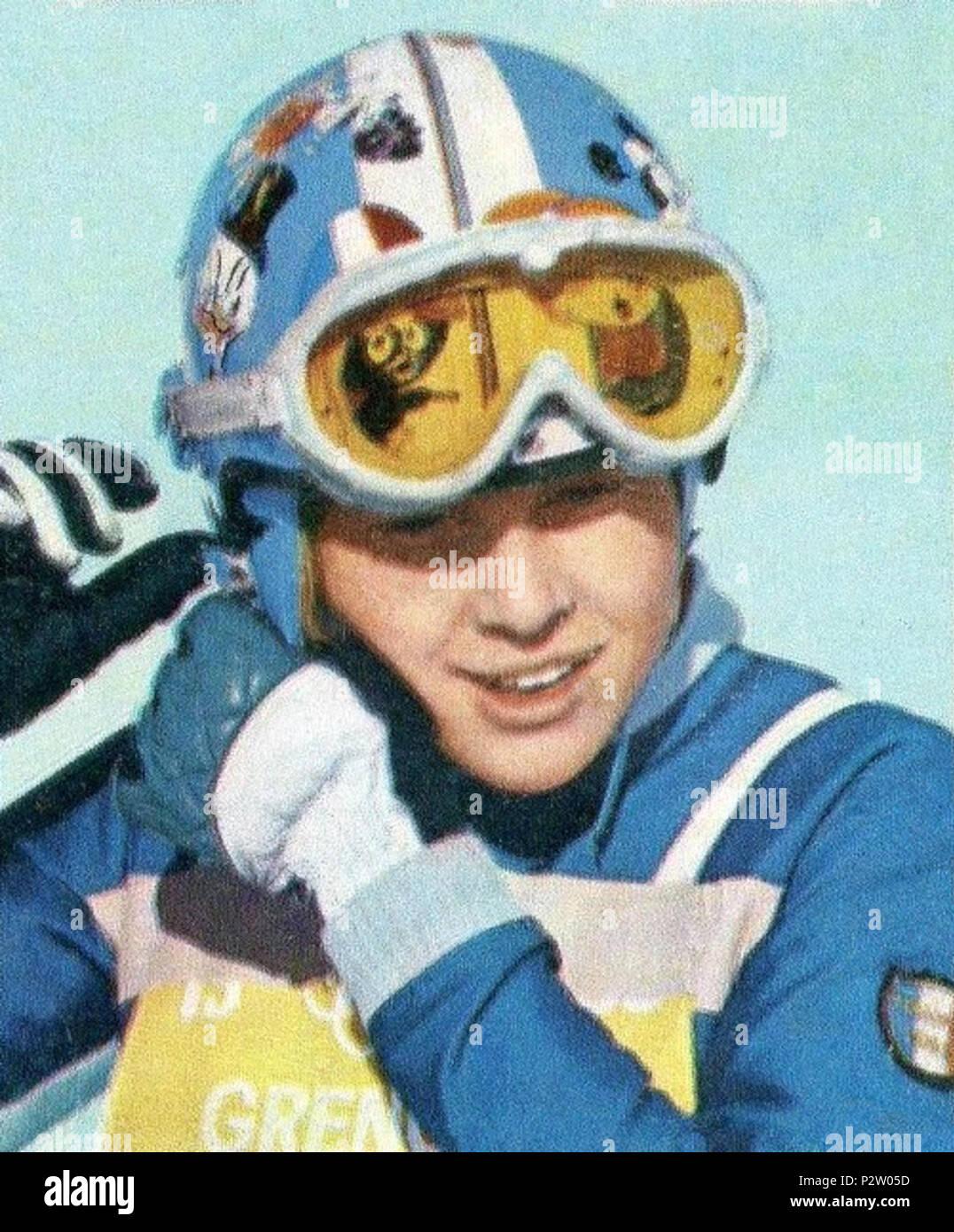 . CAMPIONI dello SPORT 1968/69-n.353- STEURER - SPORT INVERNALI (FRA)-Rec . 1968 or earlier. Unknown 29 Florence Steurer 1968 - Stock Image