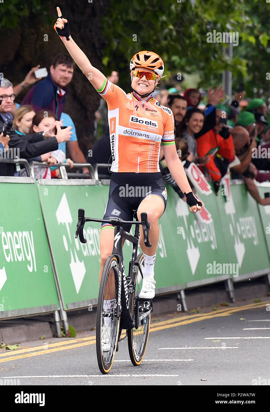546dede68 Boels Dolmans Cycling Team s Amalie Dideriksen celebrates winning stage  four of the OVO Energy Women s Tour from Evesham to Worcester.