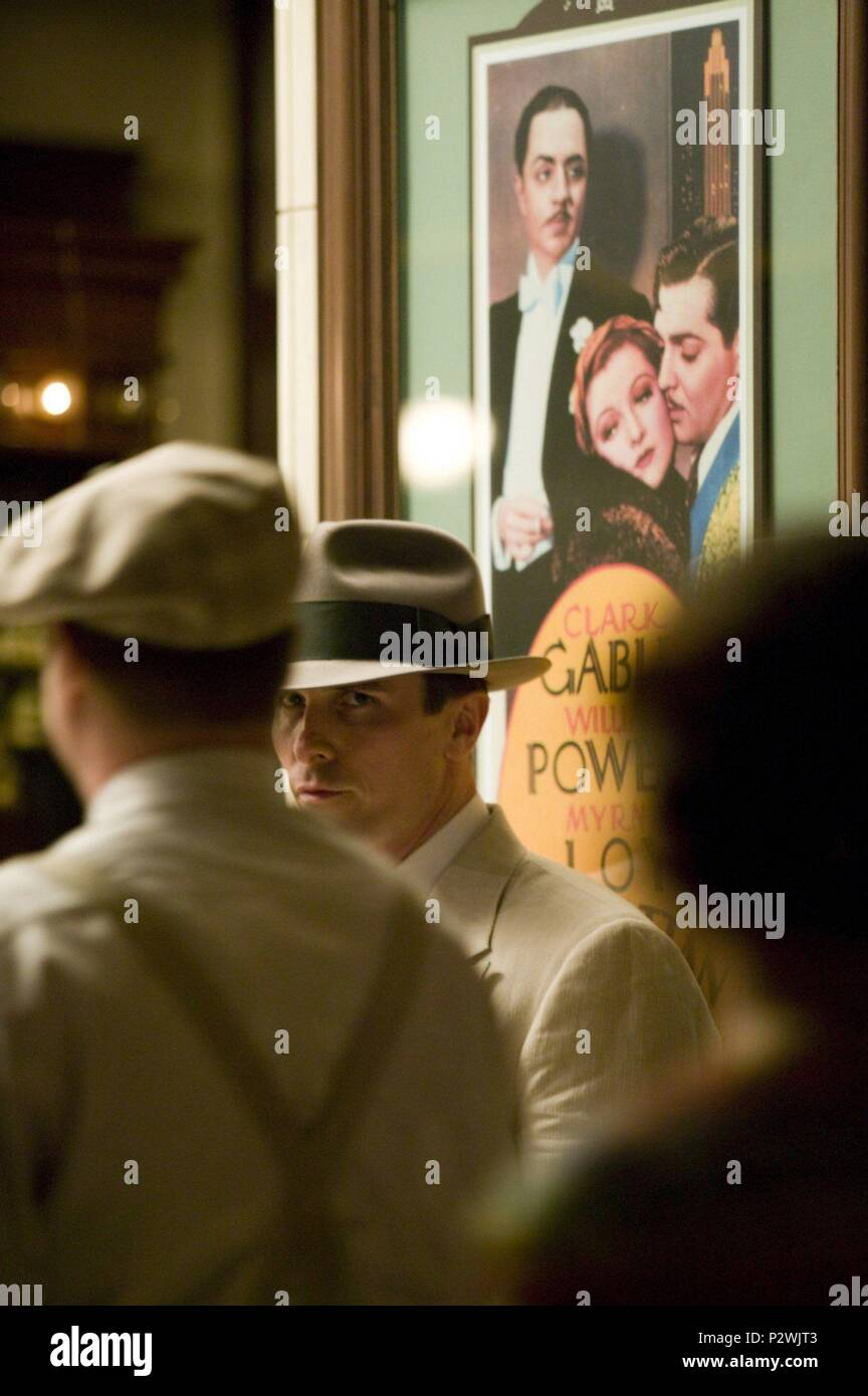 Original Film Title: PUBLIC ENEMIES.  English Title: PUBLIC ENEMIES.  Film Director: MICHAEL MANN.  Year: 2009.  Stars: CHRISTIAN BALE. Credit: TRIBECA PRODUCTIONS / MOUNTAIN, PETER / Album - Stock Image