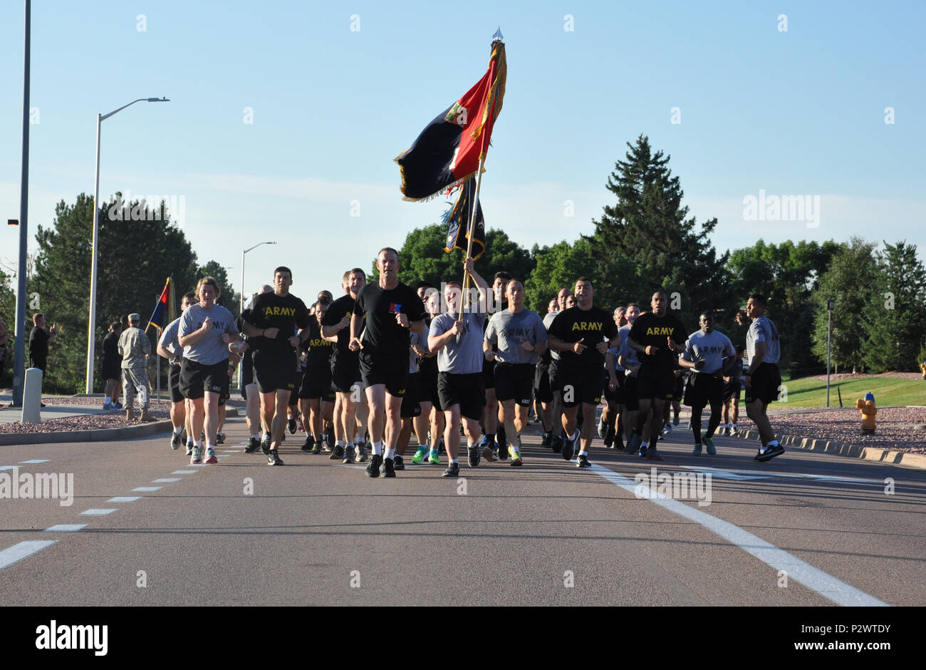 Soldiers With The 4th Infantry Division Run On Fort Cason To Celebrate 99 Years Of Tradition Excellence And Readiness During Divisions Annual Iron