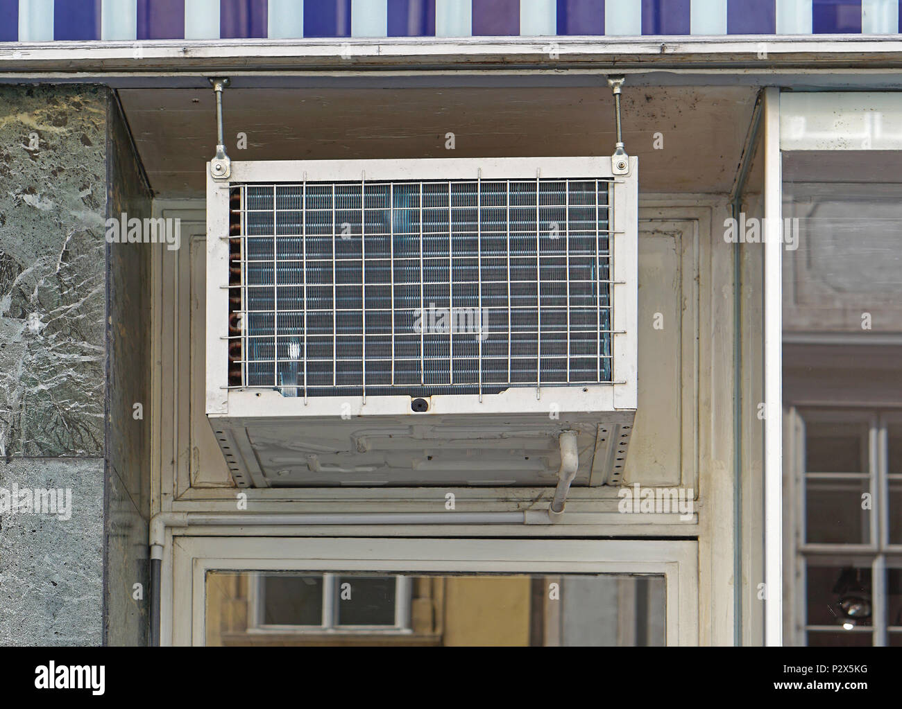 Window Air Conditioner Unit Above Door