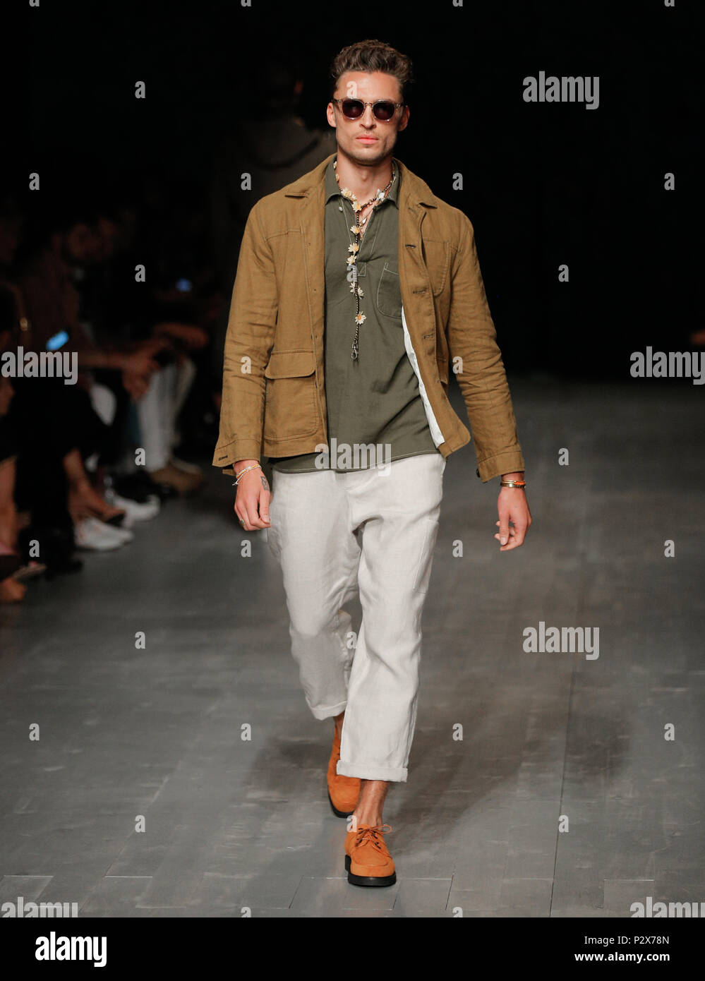 London Fashion Week Mens British Designer Oliver Spencer Presenting