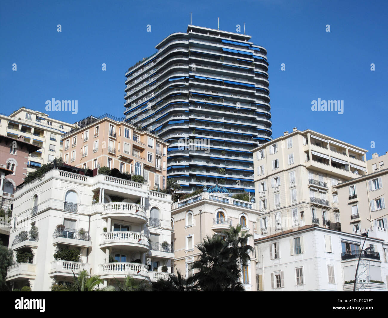 Monaco, view of Port Hercule - Stock Image