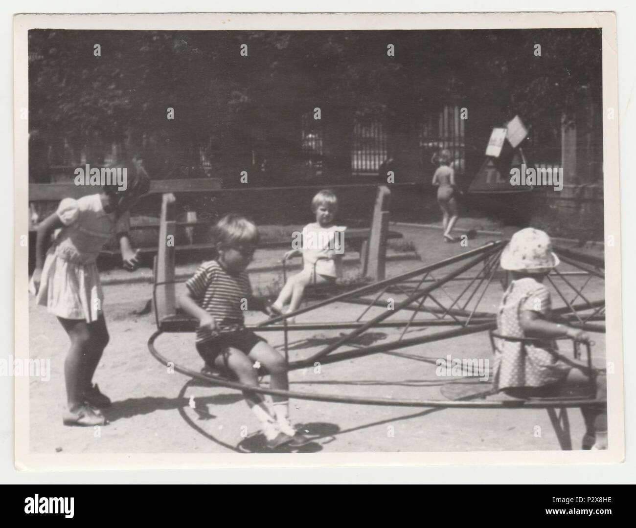 Children Playground 1960s Stock Photos Amp Children