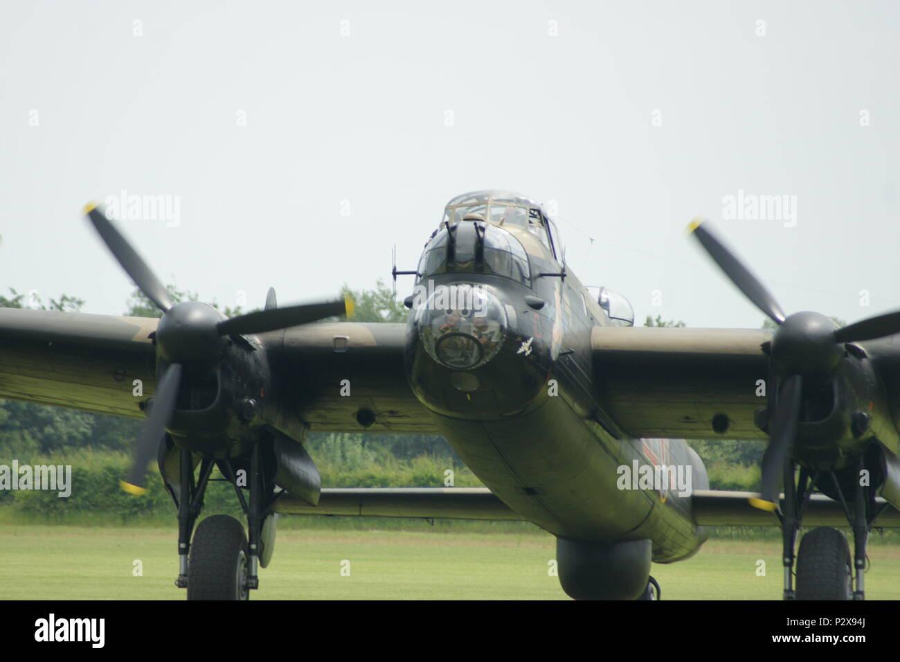 Avro Lancaster, WW2 bomber - Stock Image