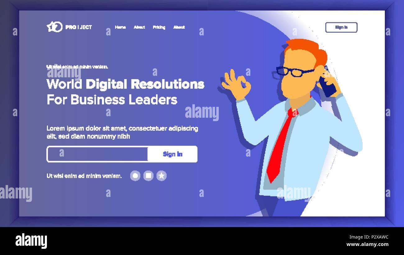 landing website page vector business website web page design site