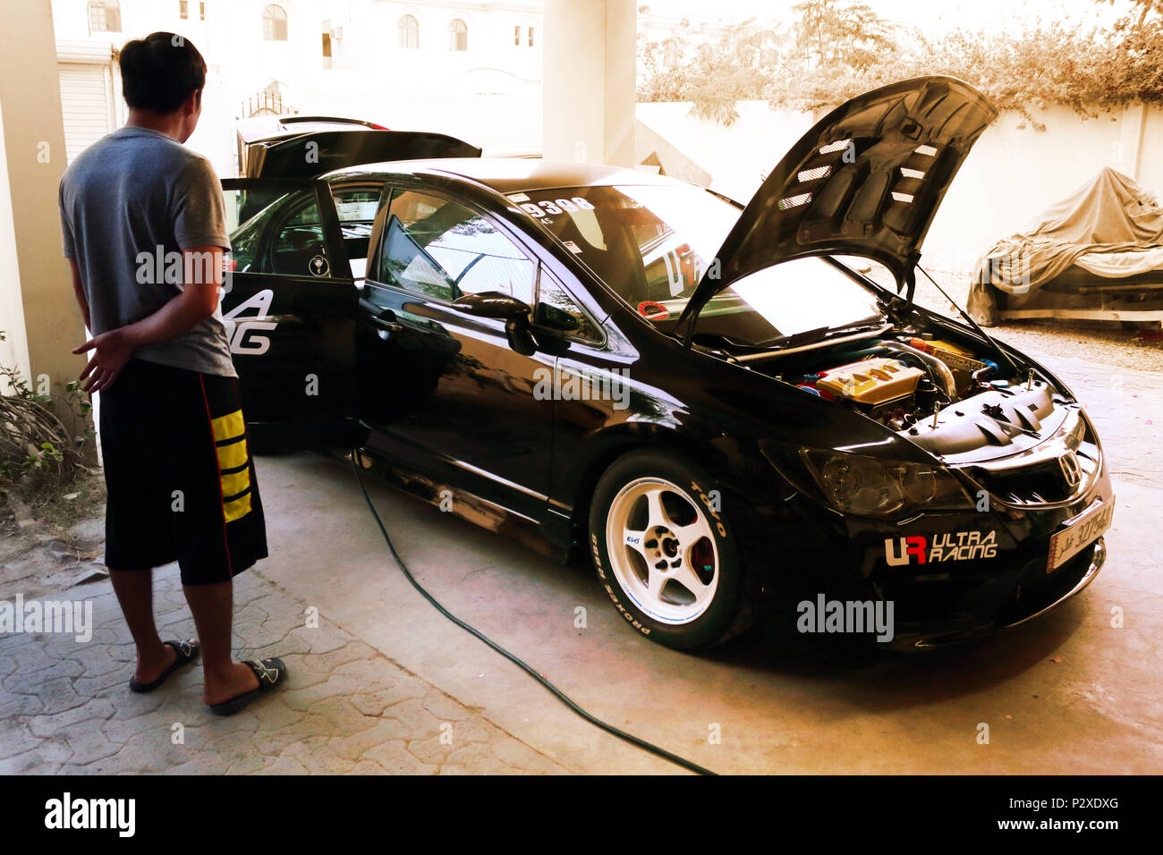 Black Honda Civic Fd Stock Photo Alamy