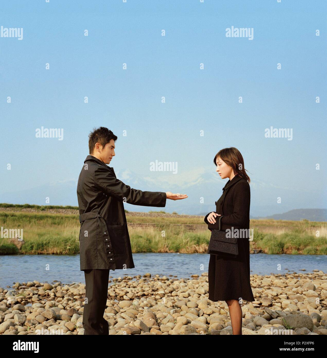 Original Film Title: OKURIBITO.  English Title: DEPARTURES.  Film Director: YOJIRO TAKITA.  Year: 2008.  Stars: RYOKO HIROSUE; MASAHIRO MOTOKI. Credit: AMUSE SOFT ENTERTAINMENT/ASAHI SHIMBUNSHA/DENTSU / Album - Stock Image
