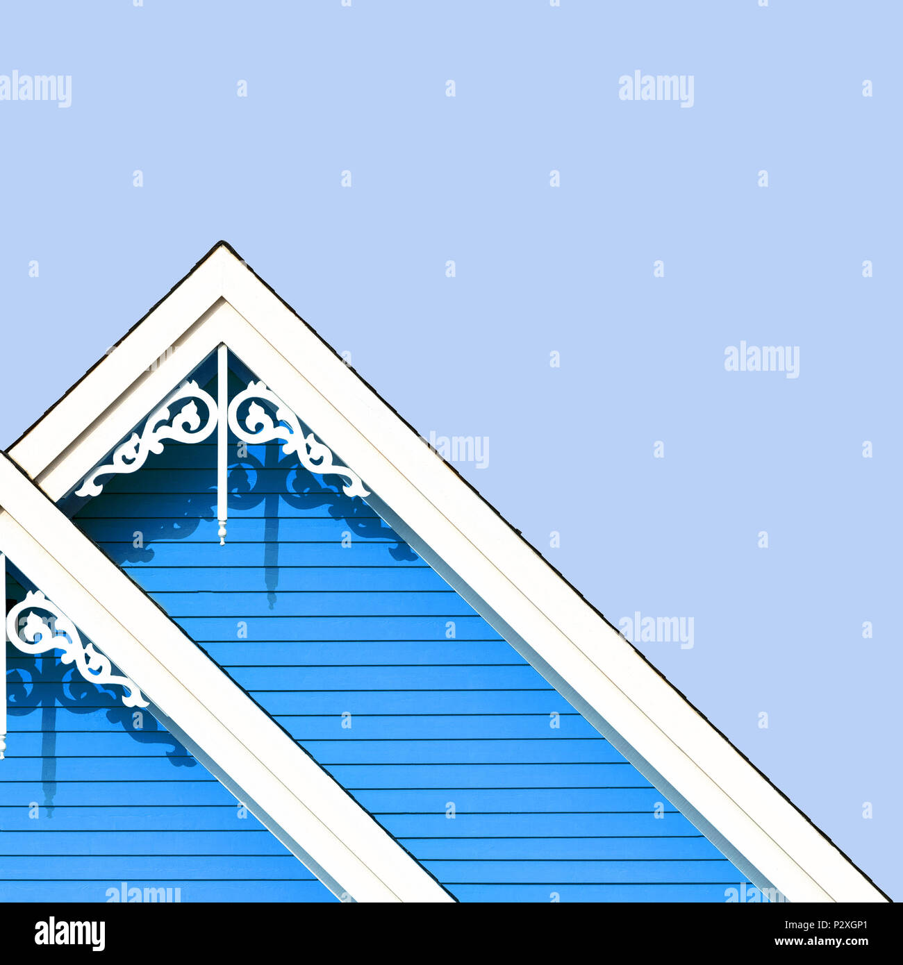 House Roof Construction Colorful Tiles Stock Photos