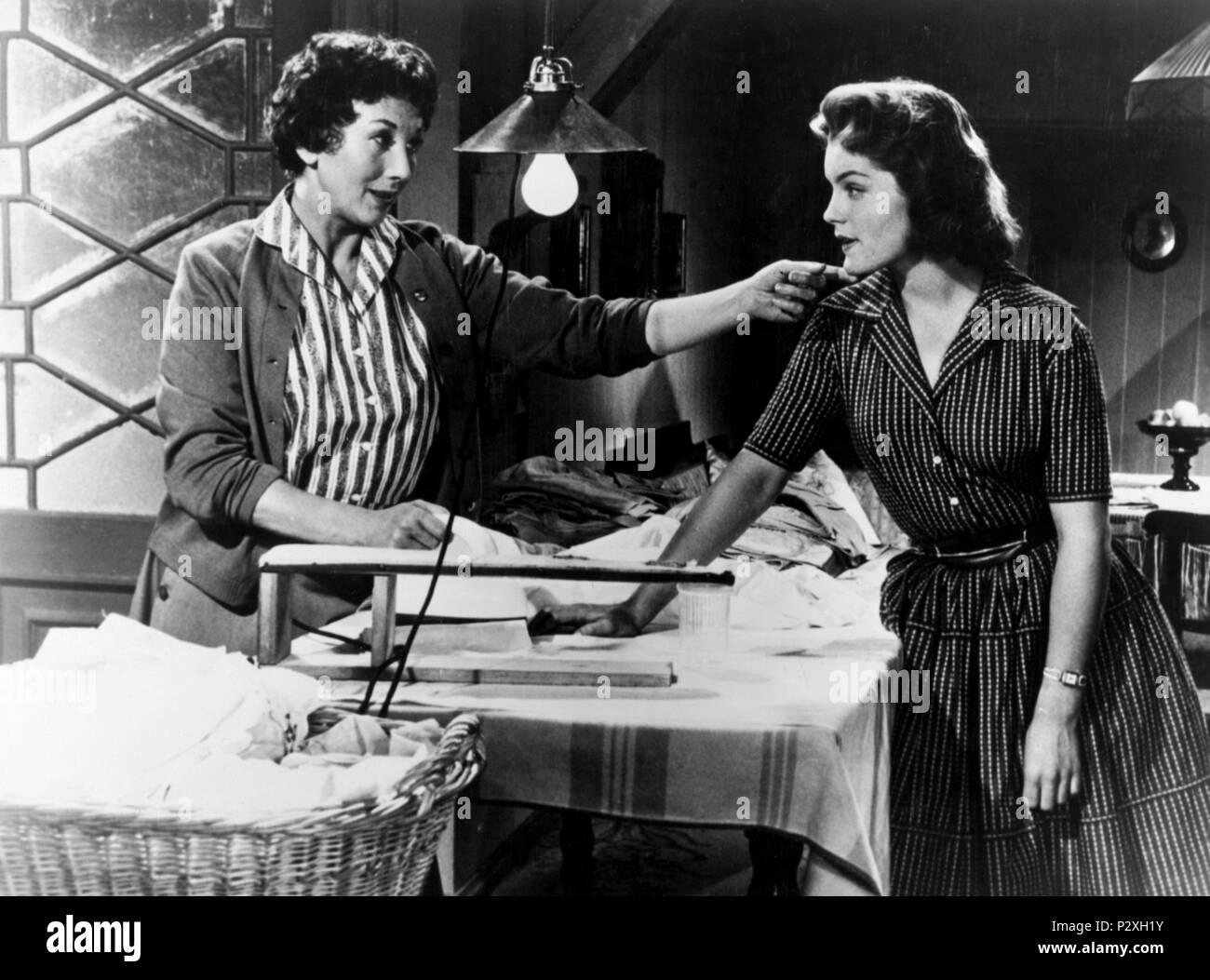 Original Film Title: KITTY UND DIE GROSSE WELT.  English Title: KITTY UND DIE GROSSE WELT.  Film Director: ALFRED WEIDENMANN.  Year: 1956.  Stars: ROMY SCHNEIDER. - Stock Image