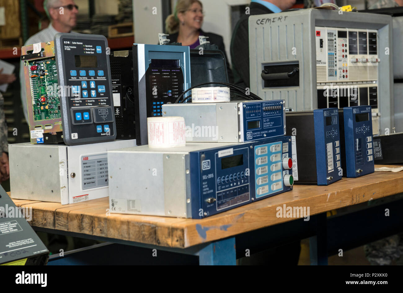 Relay Test Sets For Mechanical Electrical And Electronic High Circuit Breaker Voltage Relays Breakers As Part Of A Display Set Up Recent Tour Aug