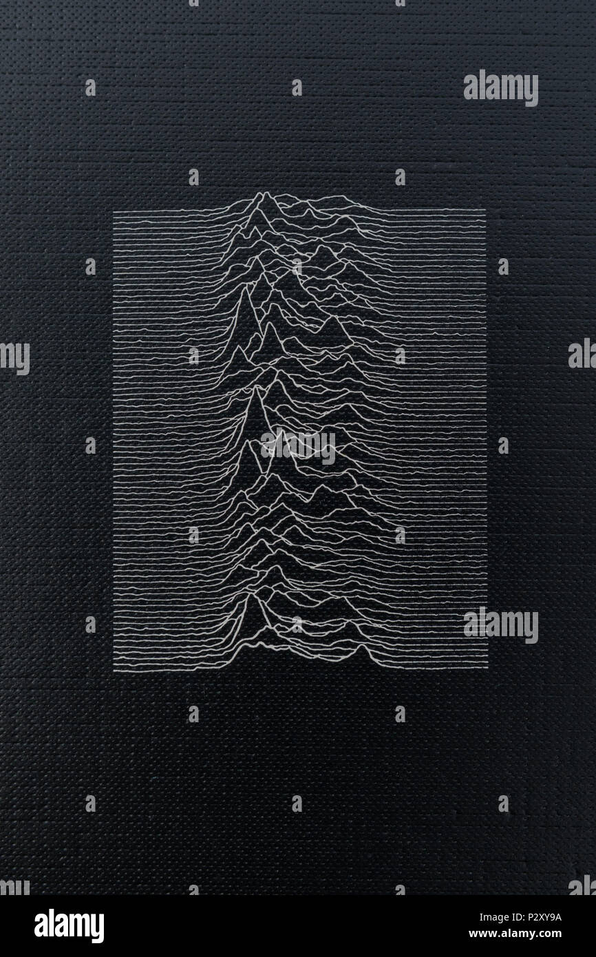 Joy Division Unknown Pleasures album - Stock Image