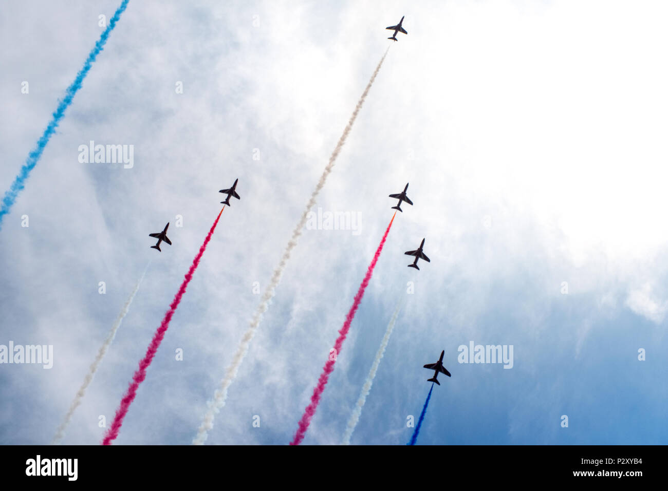 The RAF Red Arrows display team Stock Photo