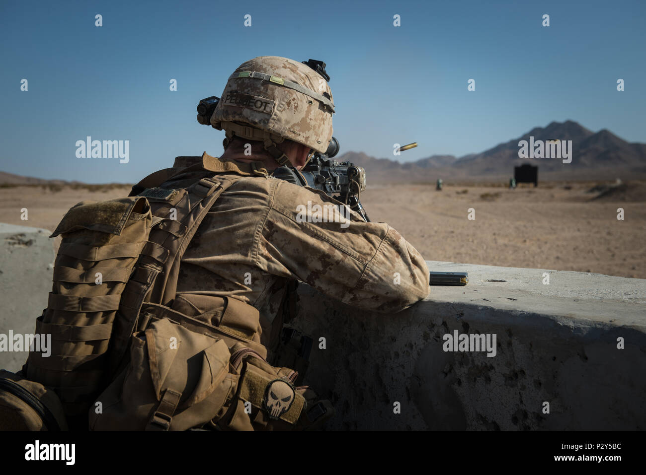 A Marine With Kilo Company 3rd Battalion 5th Marine Regiment