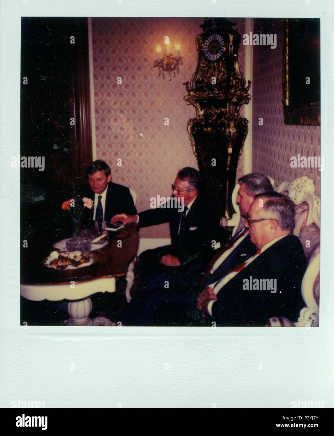 Superior THE CZECHOSLOVAK SOCIALIST REPUBLIC   CIRCA 1980s: Retro Photo Shows  Business Meeting In The Luxurious