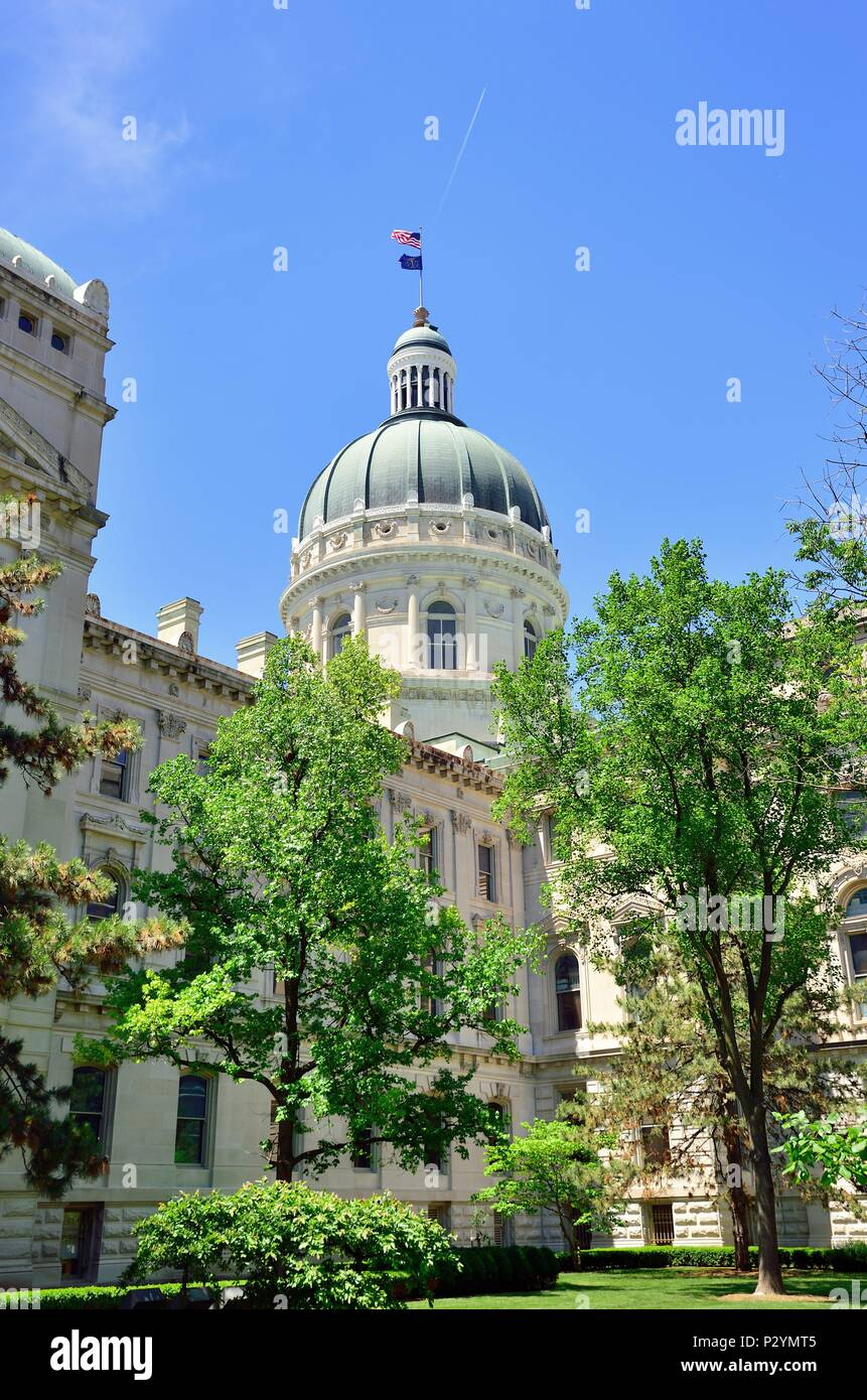 Indianapolis, Indiana, USA. Thie Indiana State Capitol Building in Indianapolis. - Stock Image