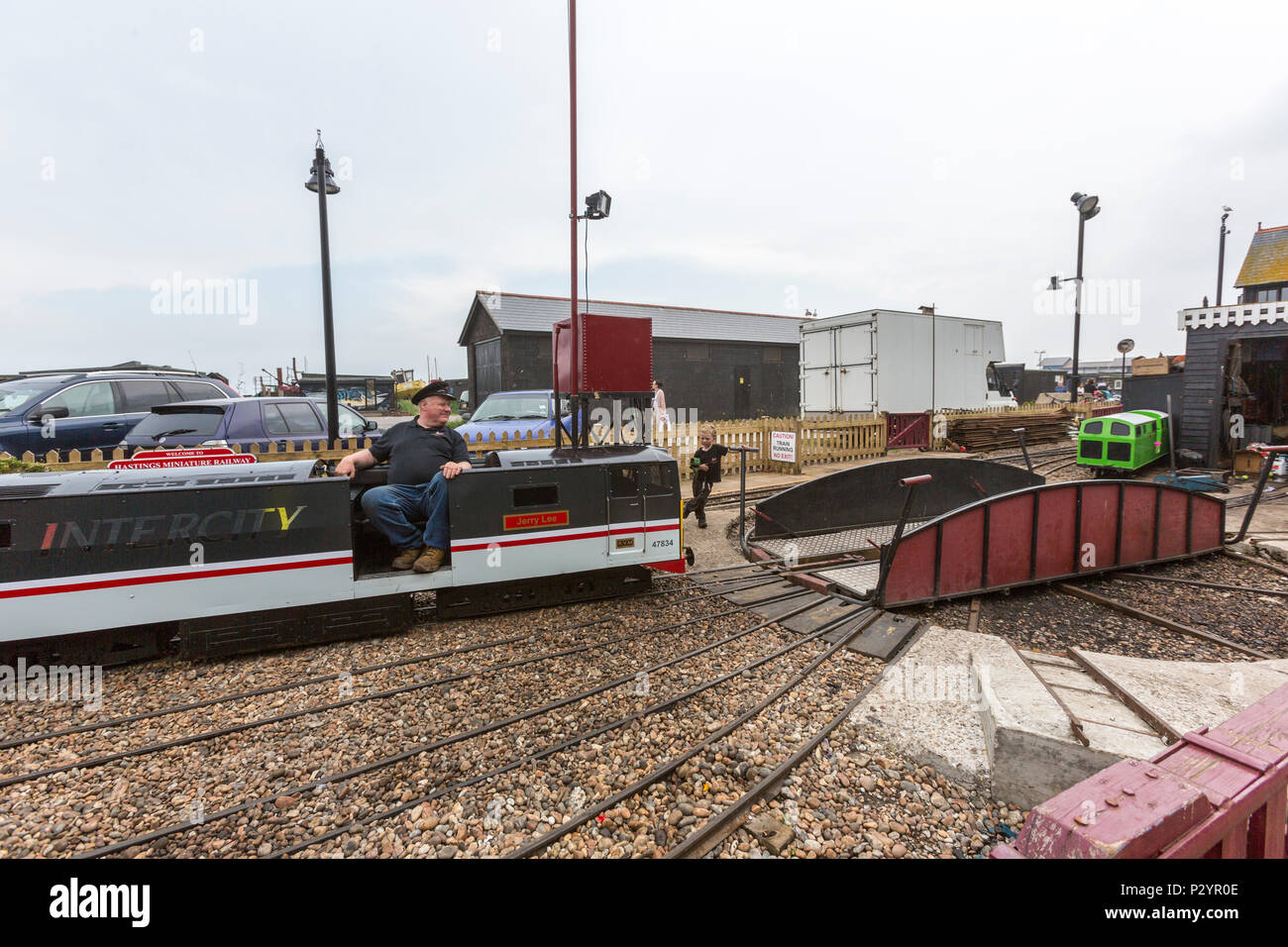 InterCity Locomotive, Hastings Miniature InterCity Railway. Hastings, East Sussex, England , UK - Stock Image