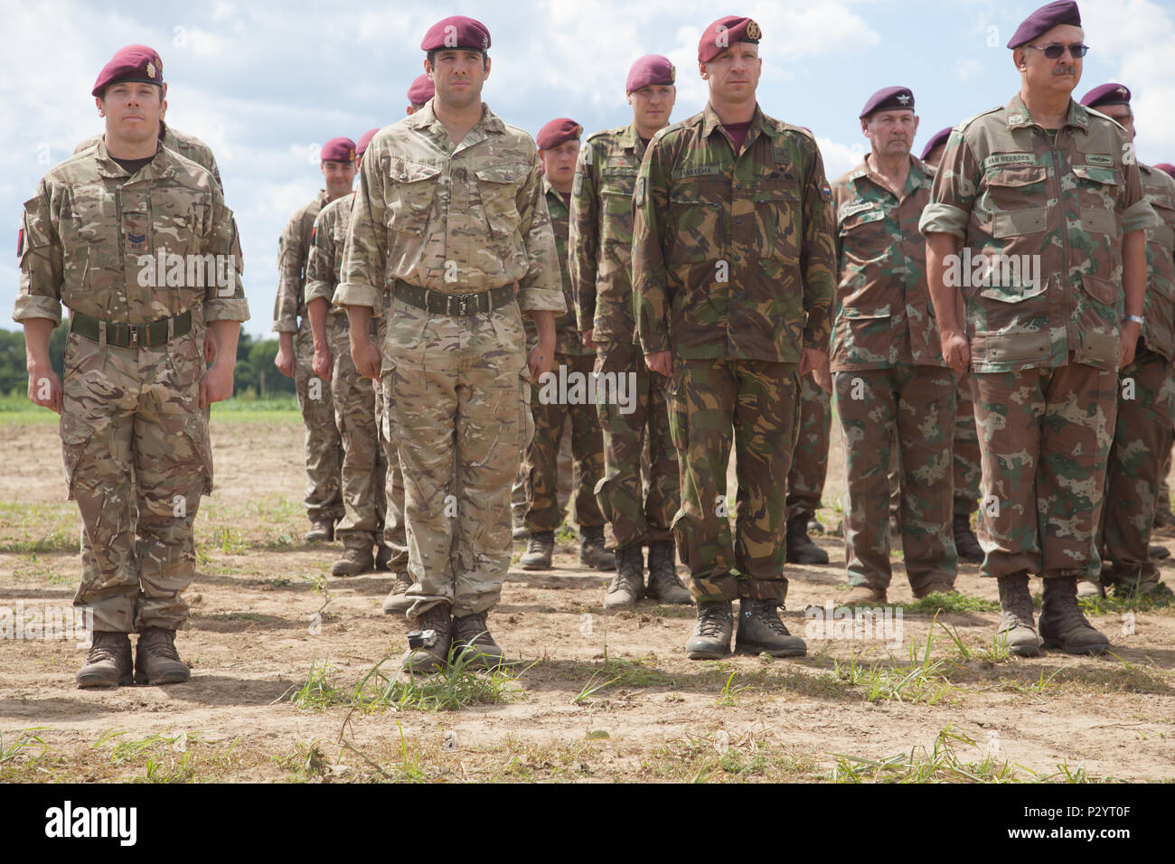 British Army, South African Army, and Dutch Paratroopers earn their