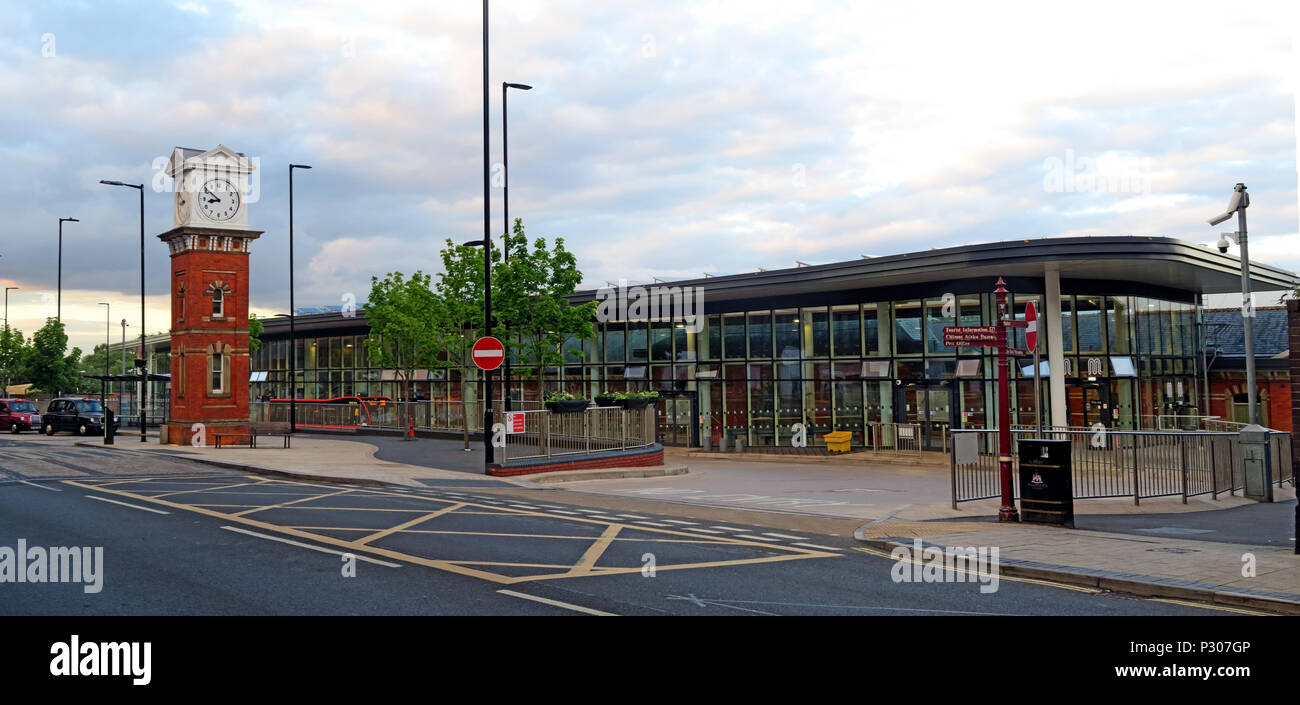 Atrincham bus & railway station interchange, - Stock Image