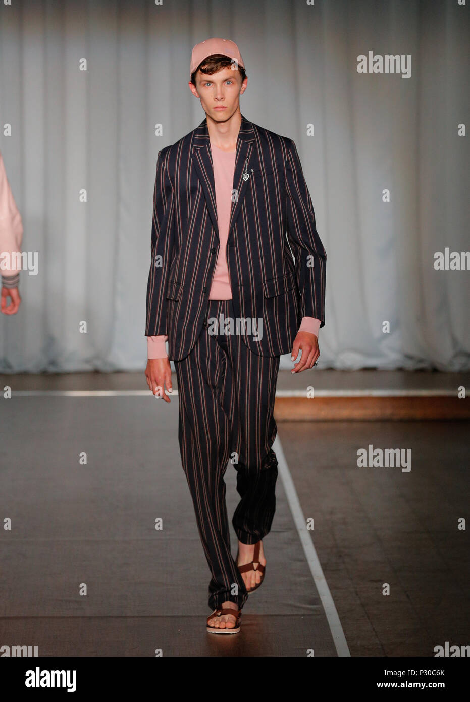 London Fashion Week Mens British Designer Ben Sherman Presenting Summer Spring 2019 Fashion Collection At British Fashion Council Show Space Stock Photo Alamy