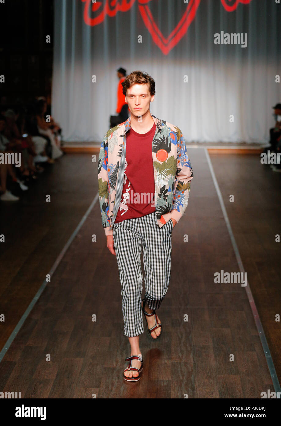 London Fashion Week Mens British Designer Ben Shermanpresenting
