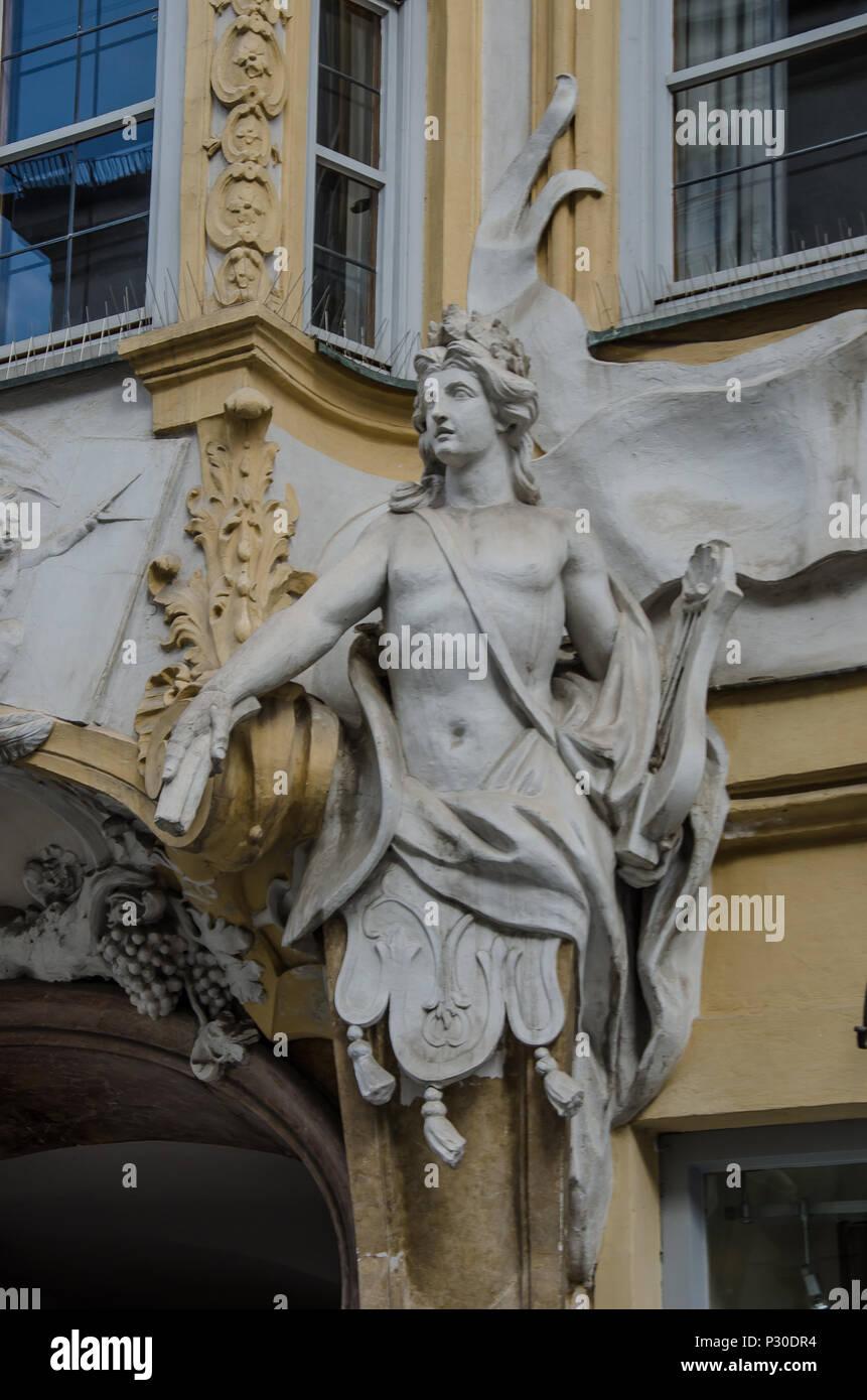 St. Johann Nepomuk, better known as the Asam Church (German: Asamkirche), is a Baroque church in Munich. - Stock Image