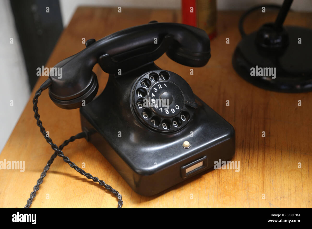 Kiel, Germany, telephone with dial - Stock Image