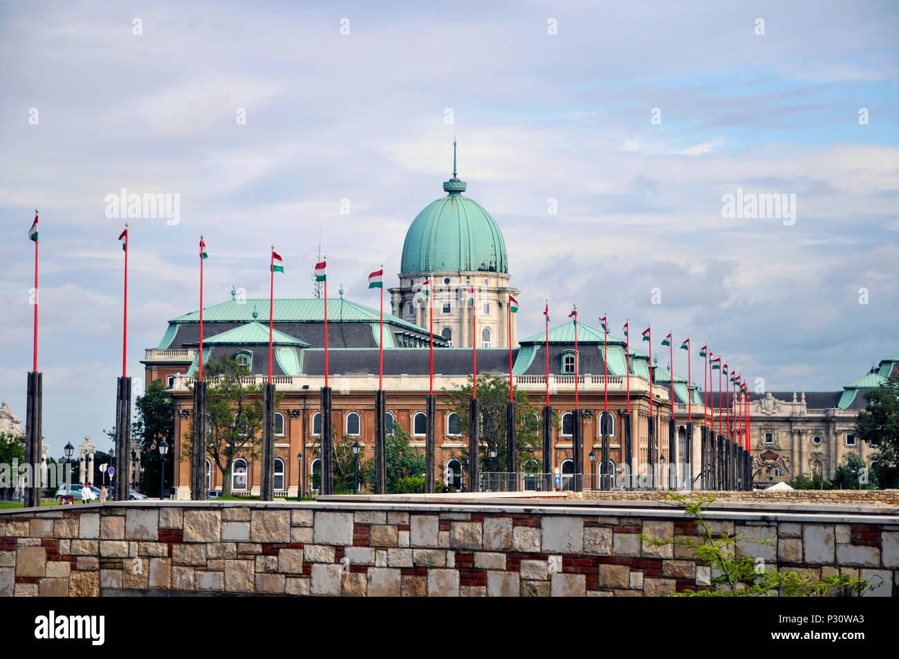 Royal Palace on Castle Hill, Buda, Budapest, Hungary, Budapest, Europe, Stock Photo