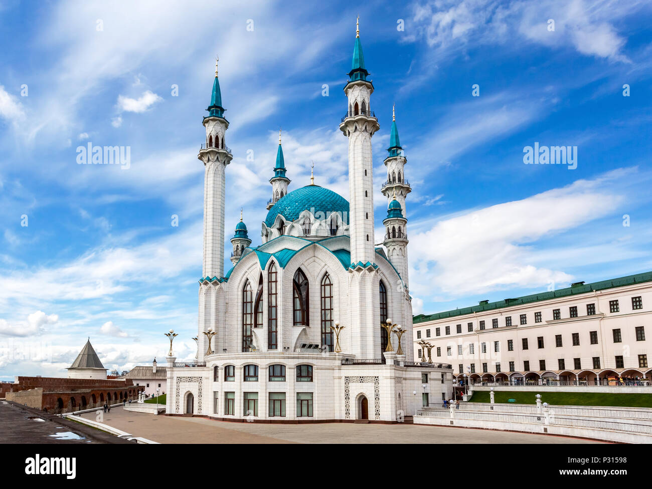 Kazan, Russia - June 10, 2018: Famous Kul Sharif mosque in Kazan Kremlin - Stock Image