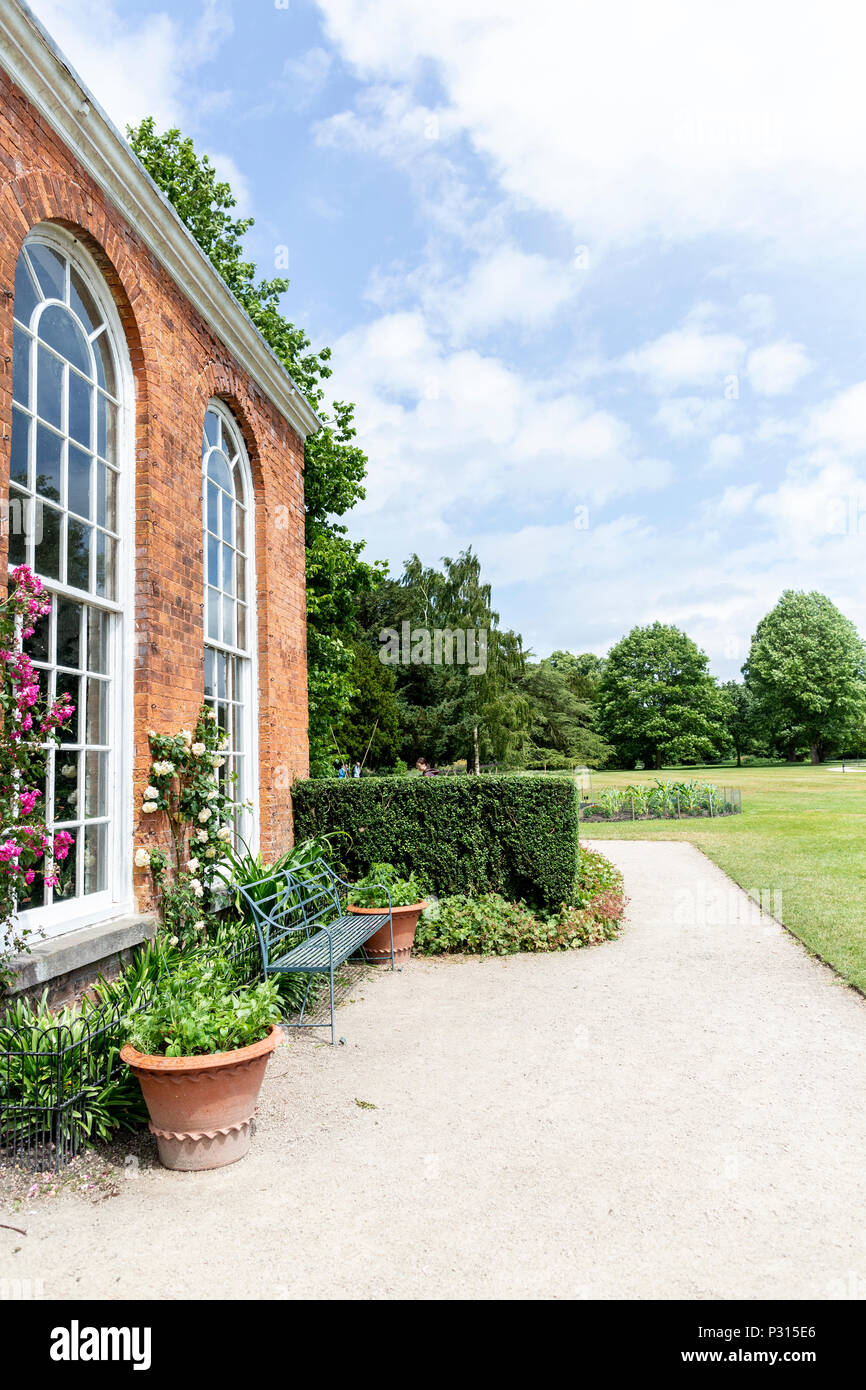 Views of Dunham Massey national Trust property and gardens near Altrincham in Cheshire - Stock Image