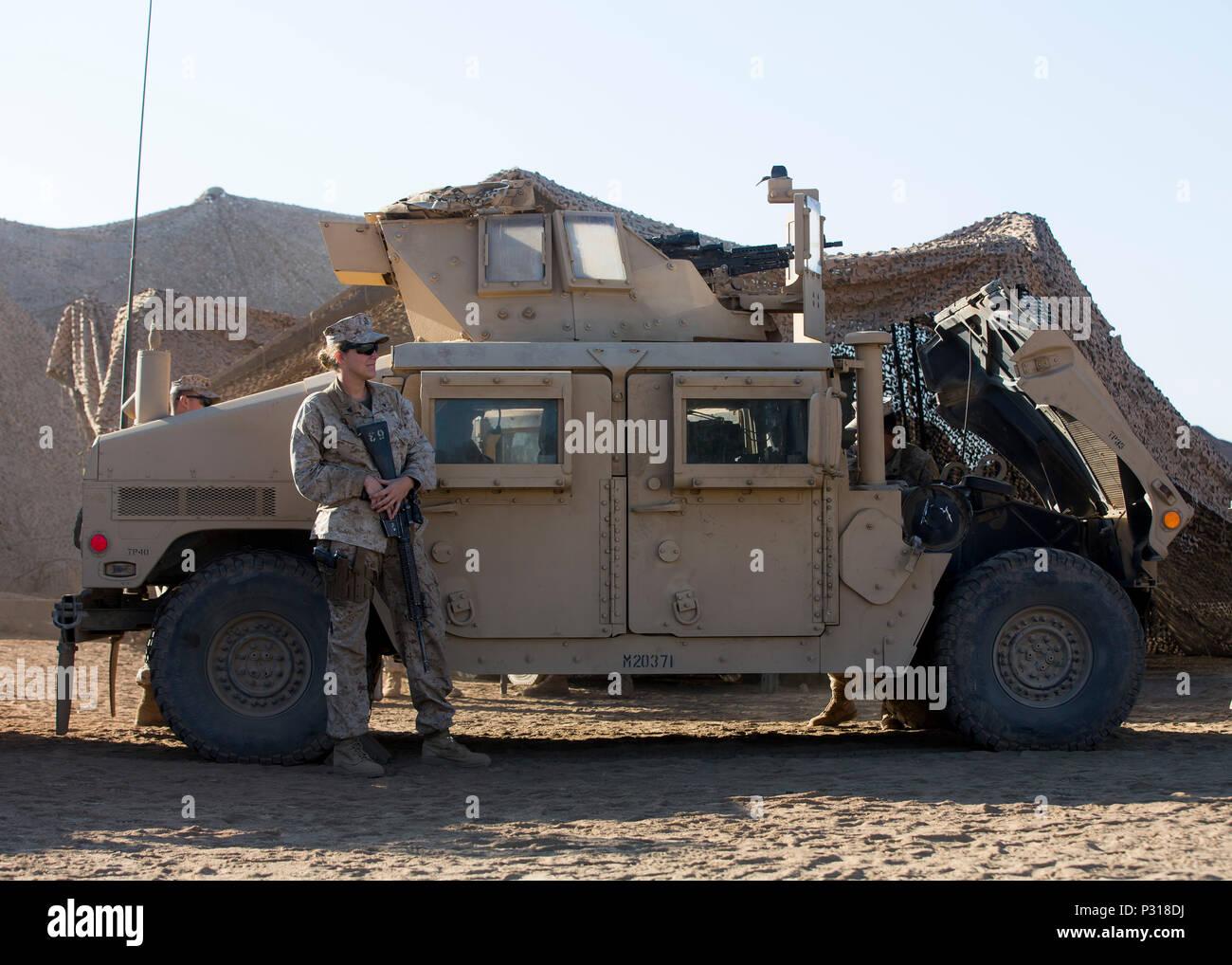 U S  Marine Cpl  Victoria Demoss, Company A, Law Enforcement