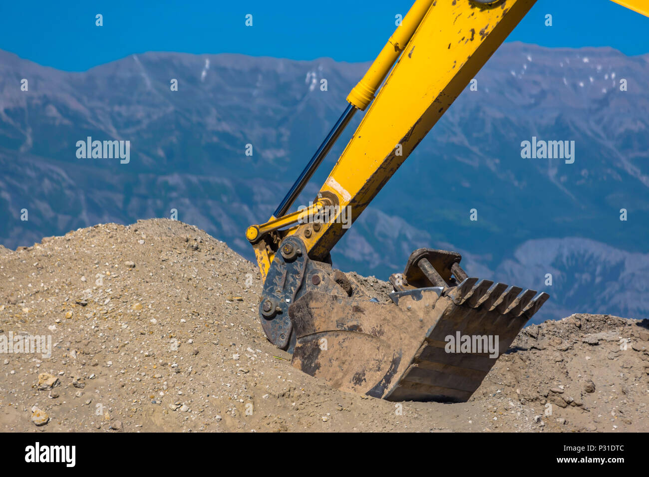 Tractor moving dirt for new homes in Utah Valley  Eagle
