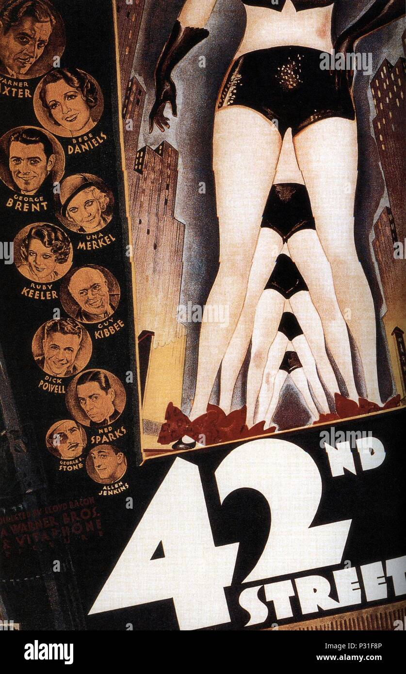 Original Film Title: 42ND STREET.  English Title: 42ND STREET.  Film Director: LLOYD BACON.  Year: 1933. Credit: WARNER BROTHERS / Album - Stock Image