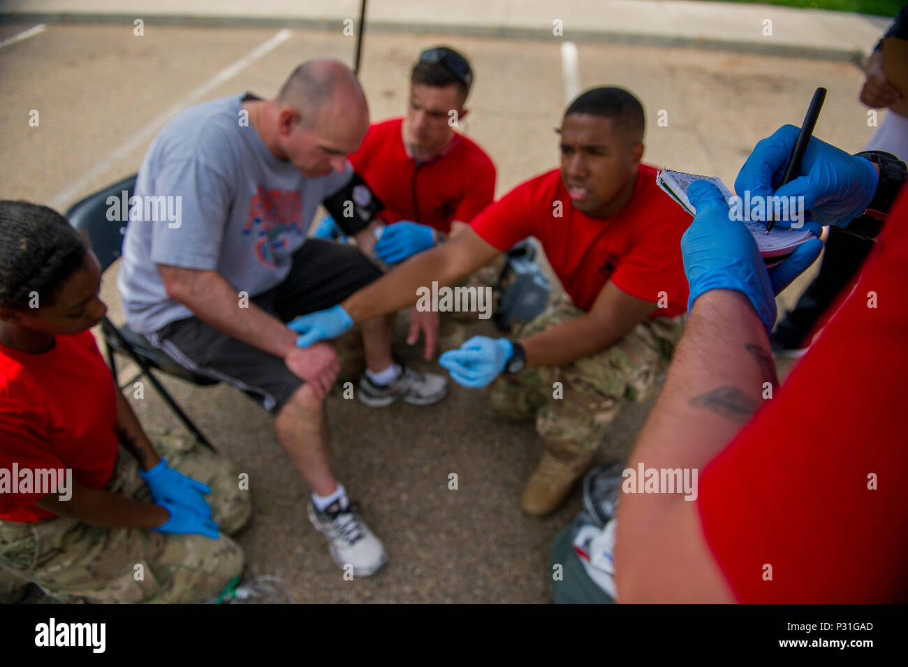 Correlated Stock Photos Images Alamy Rodeo Bundling 5 Abu L Us Air Force Emergency Medical Technicians From Cannon Base Nm Evaluate And