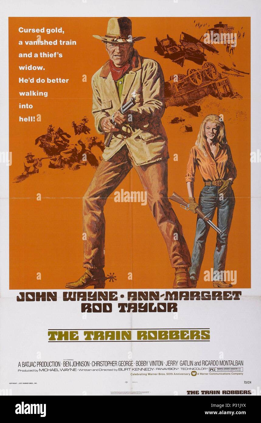 Original Film Title: THE TRAIN ROBBERS.  English Title: THE TRAIN ROBBERS.  Film Director: BURT KENNEDY.  Year: 1973. Credit: WARNER BROTHERS / Album - Stock Image